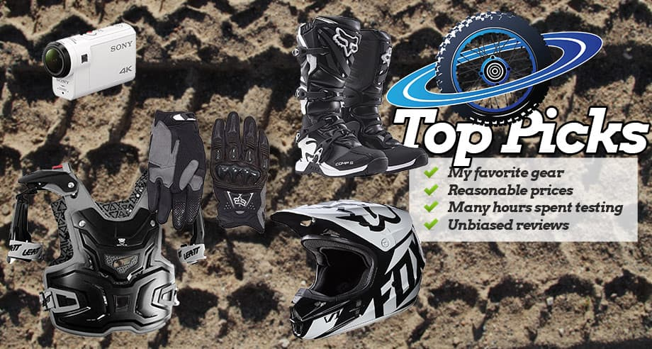 Recommended dirt bike gear my favorite battle tested for Motor cycle without gear