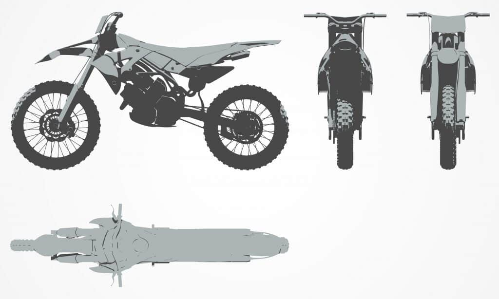 Terrific Average Dirt Bike Dimensions With 21 Examples Dirt Bike Machost Co Dining Chair Design Ideas Machostcouk